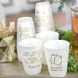 Custom printed wedding cups