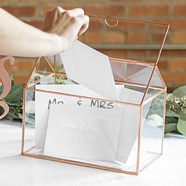 Custom wedding gift card holders