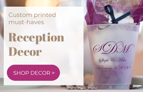 Wedding Reception Decorations Favors Gifts Personalized