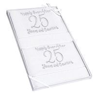 25th Anniversary Linen Guest Towels