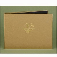 50th golden anniversary personalized guest book