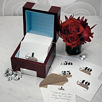 Personalized Wooden Anniversary Note Box with Numbered Stationery