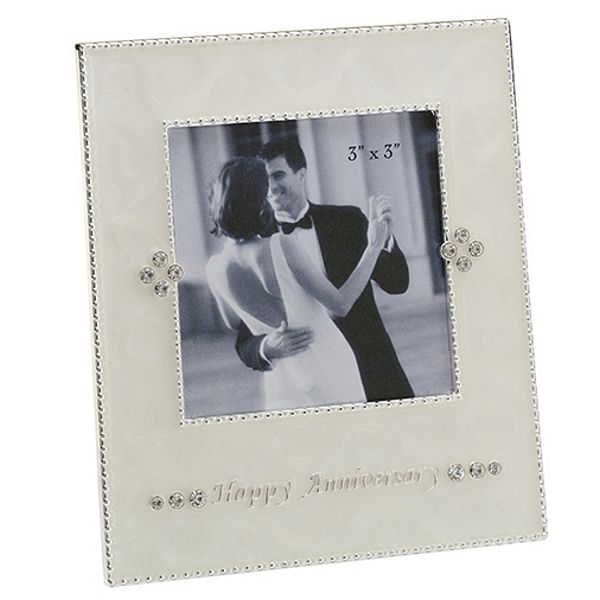 3 x 3 Anniversary Picture Frame with Pearl Finish