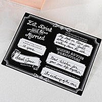 Eat, Drink & Be Marriage signature card - front