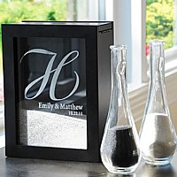 Wedding sand ceremony shadow box set