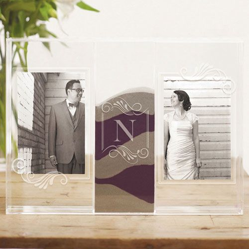 clearly love monogrammed sand ceremony shadow box