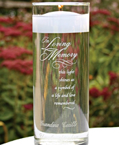 Personalized glass memorial candle holder