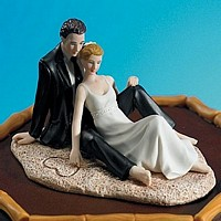Romantic Beach Couple Figurine Cake Topper