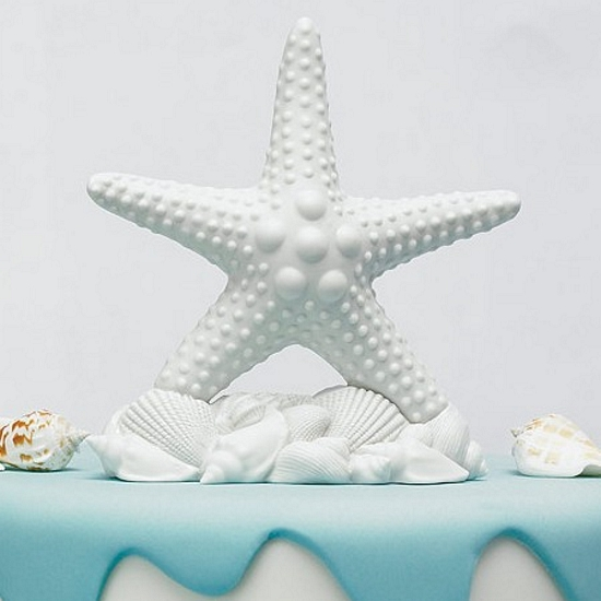 Starfish And Seashell Cake Topper
