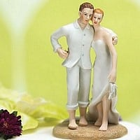 'Footsteps In The Sand' Beach Cake Topper