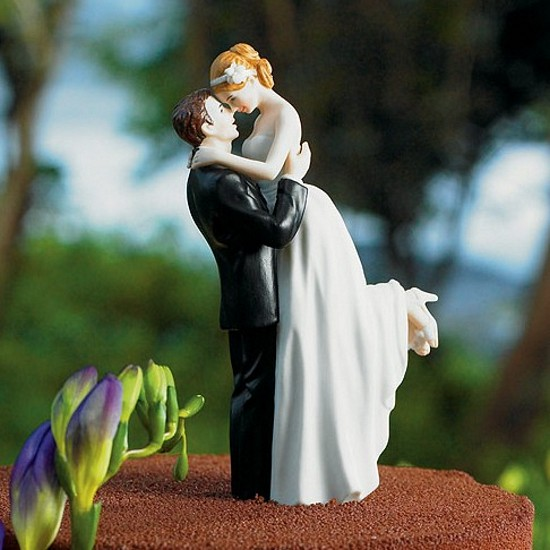 True Romance Wedding Couple Figurine Cake Topper