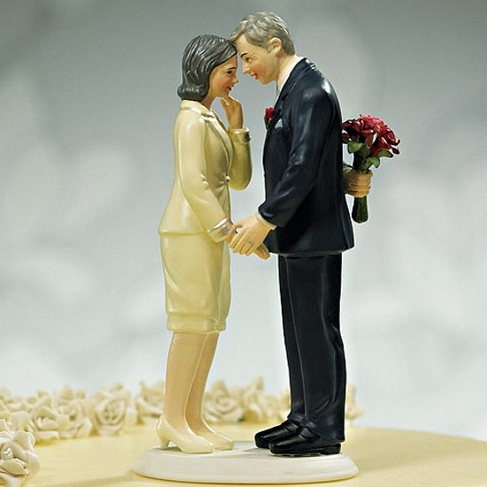 Wedding Reception Ideas For Older Couples: Still In Love Mature Adult Couple Wedding Cake Topper