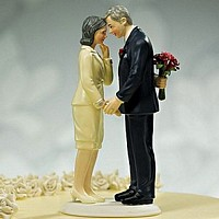 'Still in Love' Mature Adult Couple Cake Topper
