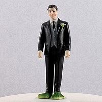Groom cake topper with frog feet