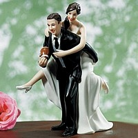 Play Together, Stay Together Football Wedding Cake Topper Figurine