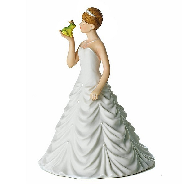 Princess Bride Kissing Frog Cake Topper - Side View