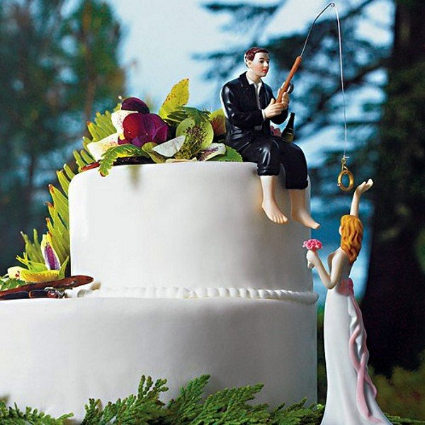 hooked on love wedding cake topper hooked on fishing groom cake topper 15312