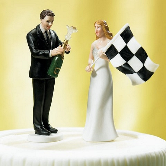 silly wedding cake toppers checkered flag amp champagne groom wedding cake topper set 19847
