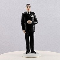 Big and tall groom cake topper figurine