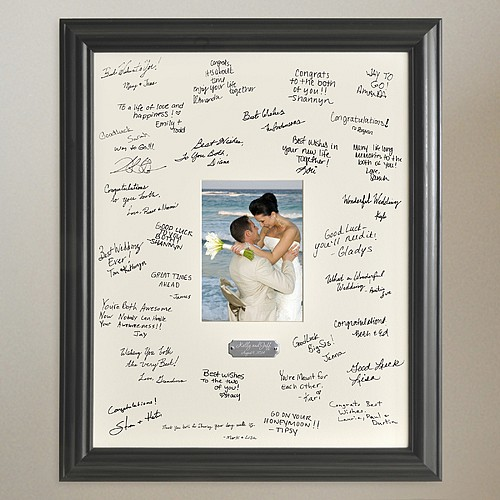 19 X 23 Inch Personalized Photo Signature Frame