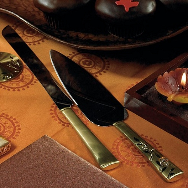 gold cake serving set venice gold engraved cake server set 4523