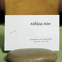 'Rock Solid' Personalized Place Card