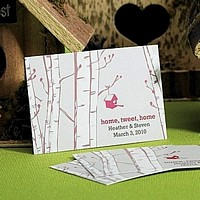 'Home Tweet Home' Personalized Favor Cards