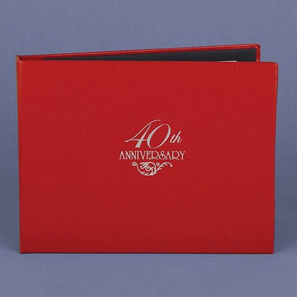 Personalized Red 40th Anniversary Guest Book f0e018e012d2
