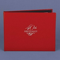 40th anniversary ruby red personalized guest book