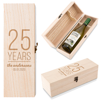 Personalized Anniversary Wood Wine Gift Box