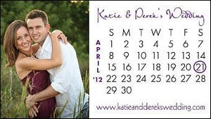 Calendar wedding save the date magnet