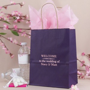 Personalized wedding welcome bag
