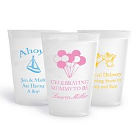 14 ounce personalized shatterproof cups with baby shower designs