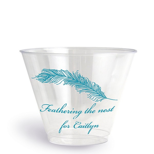 clear plastic disposable baby shower cups