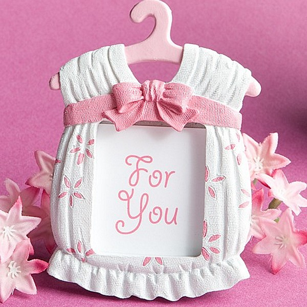 pink onsie photo and place card frame