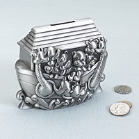 Pewter Noah's Ark Money Bank