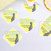 Set of 12 baby shower conversation drink coasters