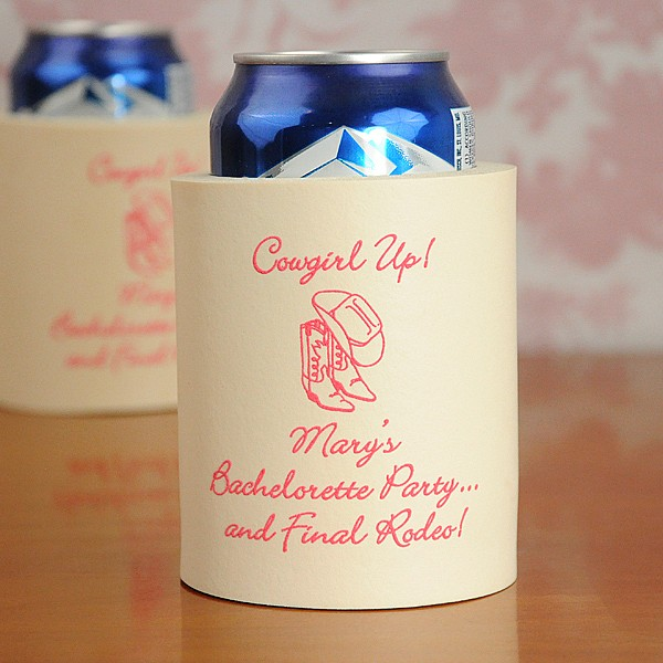 bachelorette foam can koozie lg - winter beach wedding ideas