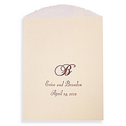 Ivory candy favor bag color