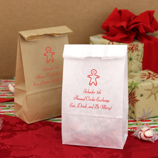Christmas Party Bags Personalized 4 X 8 Paper