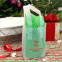 Personalized Clear Frosted Mini Christmas Goodie Bags