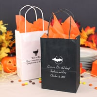 Personalized Halloween petite kraft gift bags