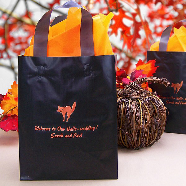 8 X 10 Frosted Halloween Gift Bags Personalized Set Of 25