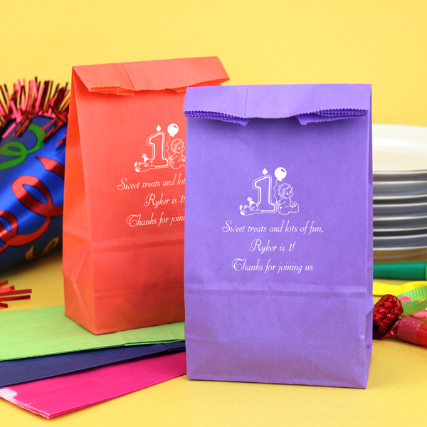 Personalized Birthday Paper Party Favor Bags