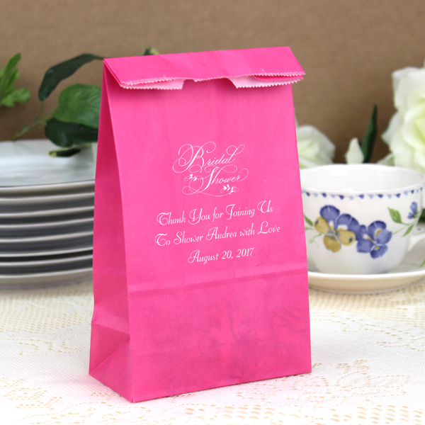 Ideas For Bridal Shower Gift Bags : Personalized Paper Bridal Shower Party and Gift Bags