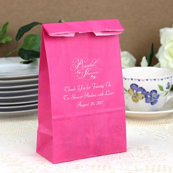 Personalized Paper Bridal Shower Party and Gift Bags