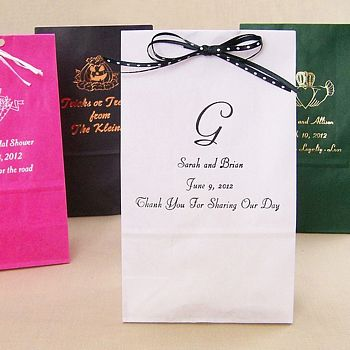 Personalized small gift bags available in different styles, designs, and colors