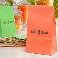 Customized bags for wedding favors, candy and wedding party guest gifts