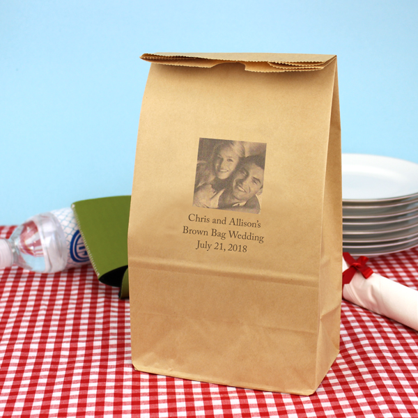 6 X 11 Personalized Photo Paper Lunch Bags