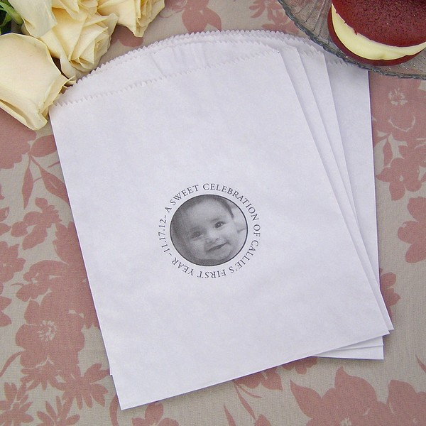 personalised wedding cake bags 6 x 8 circle photo personalized cake amp favor bags 18225